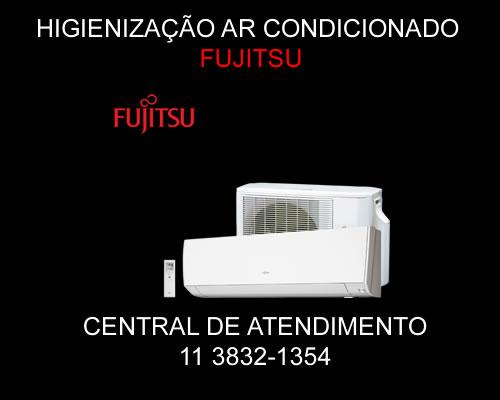 Higienização ar condicionado Fujitsu