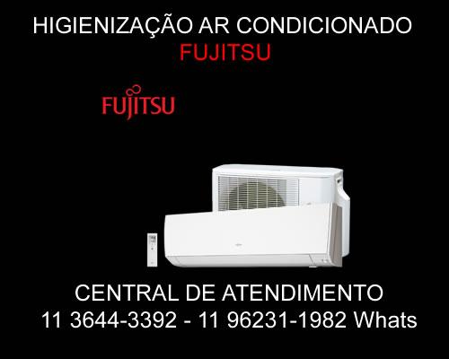 Higienização ar-condicionado Fujitsu